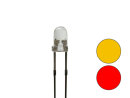 Zweifarb - DUO Bi-Color Bipolar LED 3mm 2pin klar gelb /...