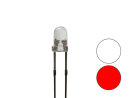 Zweifarb - DUO Bi-Color Bipolar LED 3mm 2pin klar rot /...
