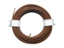 10 Meter Ring Miniaturkabel Litze flexibel LIY 0,14mm² braun