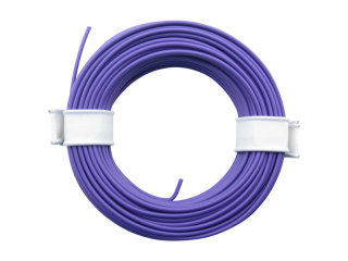 10 Meter Ring Miniaturkabel Litze flexibel LIY 0,14mm² lila violett
