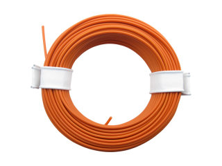 10 Meter Ring Miniaturkabel Litze flexibel LIY 0,14mm² orange